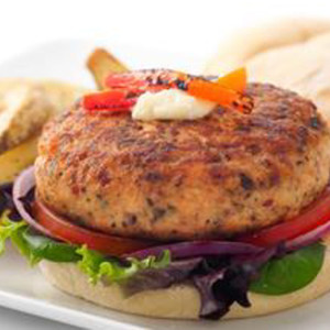 Delicious burgers made with the freshest salmon available and paired ...