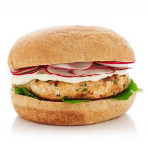 Spinach & Feta Salmon Burger