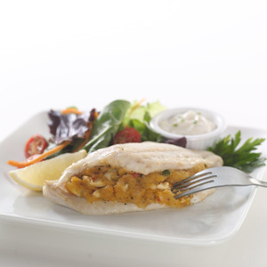 Flounder with Crabmeat Stuffing